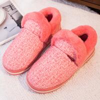 冬季棉拖鞋男包跟家居室内保暖可爱防滑毛毛鞋男士软底女韩版冬天