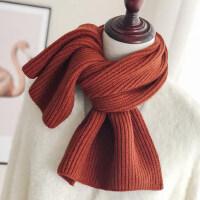 两用学生保暖针织毛线围脖女 韩版百搭披肩女士纯色围巾 时尚针织围巾