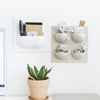 宿舍墙壁粘贴置物架 无痕强力挂式厨房浴室壁挂收纳盒 寝室床头架
