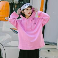 卫衣 女士套头印花字母长袖连帽衫2020秋季新款韩版时尚女式休闲洋气卫衣女装打底衫