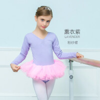 儿童舞蹈服装长袖少儿芭蕾舞裙幼儿练功服女童演出服