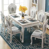 欧式餐桌椅组合长方形大理石现代简约家用小户型简欧实木餐桌饭桌
