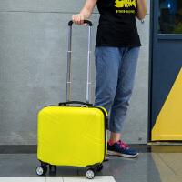 小行李箱万向轮16寸旅行箱女拉杆箱学生登机箱18寸迷你子母箱logo 经典黄 单箱/新款