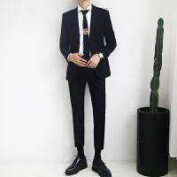 西服套装男士新郎结婚礼服职业正装春季韩版修身小西装伴郎服