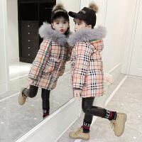 女童洋气棉衣棉袄8中大童洋气9女孩10中长款冬装12岁加厚
