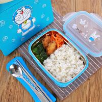 304不锈钢学生饭盒儿童防烫分格便当盒食品级防漏密封便携快餐盒