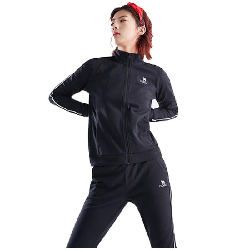 骆驼男女2019早秋新款情侣款运动瑜伽服两件套装休闲卫衣跑步长袖开衫