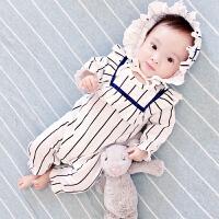 婴儿连体衣秋冬男女宝宝休闲长袖棉衣哈衣爬服外出新生儿衣服冬季