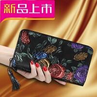 女士钱包长款2018新款韩版个性时尚钱夹多功能皮夹子手包手抓包潮