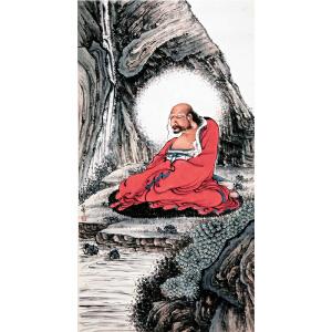 H1082  钱化佛《佛像》(北京文物公司旧藏)