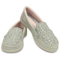 【限时秒杀】Crocs新款正品卡骆驰女鞋豹纹女士沃尔卢便鞋二代帆布鞋|202485 豹纹女士沃尔卢便鞋二代