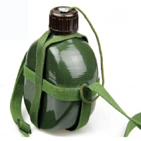 户外时尚人气87军绿色水壶老式军训水壶野营居家十字帆布水壶军迷用品军绿色