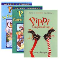 现货正版 Pippi Longstocking 长袜子皮皮开船了/在南海系列3册 英文原版 国际安徒生奖 林格伦作品