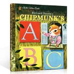 顺丰发货 英文原版 Richard Scarry's Chipmunk's ABC 斯凯瑞金色童书-快乐的花栗鼠的AB