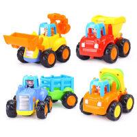 汇乐玩具326工程车惯性车儿童小汽车宝宝玩具车挖掘机男孩套装
