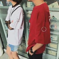 情侣装夏季新款韩版男女短袖宽松T恤潮学生个性半袖夏