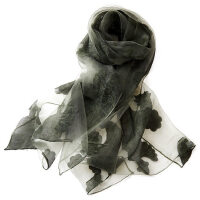 韩版夏季海滩防晒披肩沙滩巾女长款雪纺丝巾女纯色裹巾