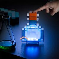 ThinkGeek我的世界周边矿灯8色变色瓶Minecraft火炬火把玩具模型礼物夜灯