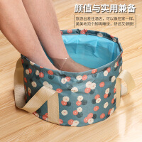便携式可折叠水盆大号洗脚盆旅行泡脚桶袋多功能小号旅游洗漱脸盆