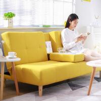 良木沙发宜家家居北欧可折叠沙发床小户型布艺沙发客厅折叠床旗舰