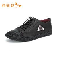 红蜻蜓男鞋冬季新款潮鞋帅气撞色韩版舒适潮流运动休闲鞋子板鞋男