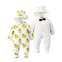 婴儿童连体衣服01岁3个月新生儿冬装冬季棉衣6哈衣季装新年