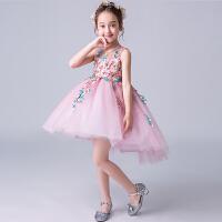 花童礼服公主裙夏女童蓬蓬纱公主裙儿童粉色女孩演出服