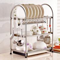 厨房置物架 碗碟沥水架304不锈钢碗碟滴水架厨房置物架放刀具碗盘碗架