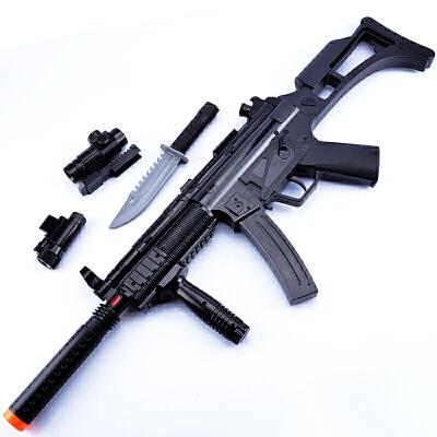 电动玩具枪男孩 玩具手枪冲锋枪电动枪 儿童玩具枪声光机关枪狙击