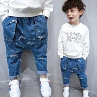 **男童裤子儿童牛仔裤宝宝大童男孩童装哈伦裤2018春装新款
