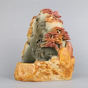 中国非物质文化遗产传承人群 钟景锐作品《风生水起》倒流香/摆件 绿端