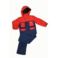 原单 儿童滑雪服 加厚保暖滑雪衣服套装两件套冲锋衣男童新品 桔色 上衣