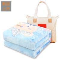 婴儿毛毯秋冬季双层加厚儿童宝宝幼儿园四季云毯抱毯定制