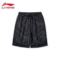 李宁运动短裤男士2020新款韦德系列男装宽松梭织运动短裤AKSQ107