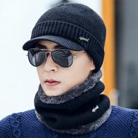 时尚帽子男冬天加绒针织毛线帽加厚青年韩版秋冬保暖骑行防寒棉帽冬季