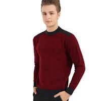 秋冬季男装针织衫休闲中年男加厚圆领毛衫