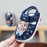宝宝凉鞋夏季宝宝鞋子学步鞋软底布鞋婴儿鞋0-2岁男女叫叫鞋