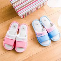 亚麻拖鞋男女夏季居家家居室内防滑情侣款平底韩国