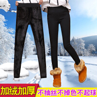 加绒厚打底裤女外穿冬季2017新款高腰棉裤黑色小脚铅笔裤子女裤