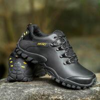 秋冬季新款男士登山鞋户外运动皮质透气休闲徒步鞋男防滑耐磨潮鞋
