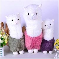 羊驼毛绒玩具 羊公仔 大号娃娃抱枕 吉祥物创意礼品  紫色 红色 浅墨绿三色可以选择