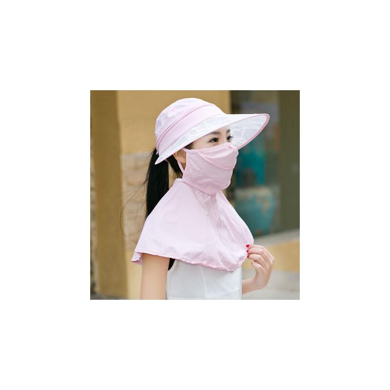 可折叠太阳帽女遮阳帽户外骑车防晒帽防紫外线遮脸电动车帽子 品质保证 售后无忧
