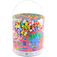 米偶 魔法DIY玉米 350粒750粒1500粒桶装玉米粒 儿童DIY益智玩具 3-6岁