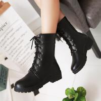 女童单靴秋冬短靴韩版英伦风儿童马丁靴女孩皮靴中大童靴