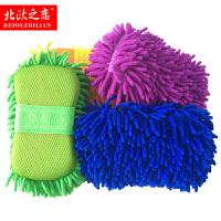 洗车工具 雪尼尔海绵手套特大号珊瑚海绵擦车吸水汽车美容用品
