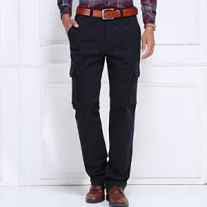 战地吉普AFS JEEP 2017秋冬季新款男士休闲裤 多口袋宽松直筒工装长裤LZ225