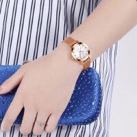 手表韩版简约钢带女士手表女时尚潮流女表学生防水手链表女石英表