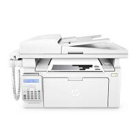 惠普/HPM132fp激光多功能有线网络打印复印扫描传真机一体机带话柄