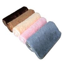 普润 珊瑚绒地垫 门垫 吸水防滑超细纤维40*60cm 咖啡色