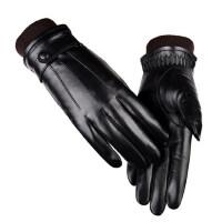 皮手套男士触屏手套加绒加厚保暖羊皮手套骑行骑车摩托车